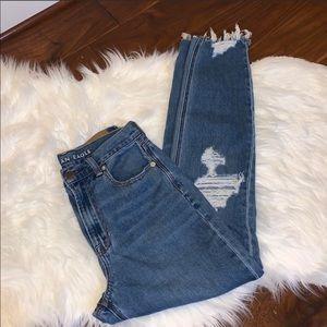 AEO American Eagle Mom Jeans Size 0